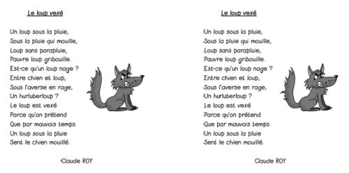 """Poésie """"Le loup vexé"""""""