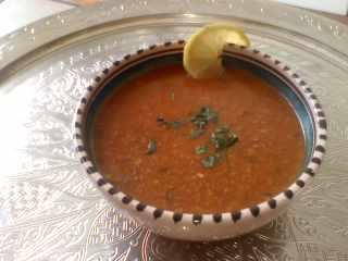 Chorba tunisienne au poulet