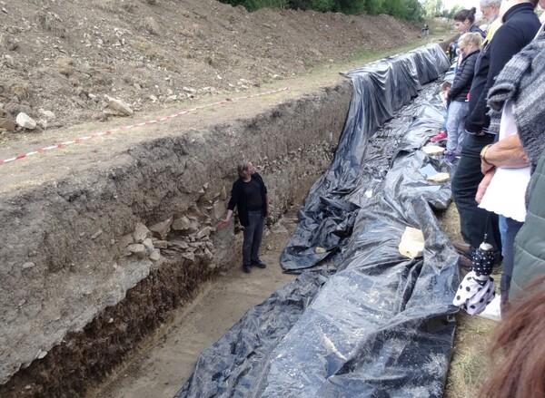 Les fouilles au Mont Lassois de Vix en 2015