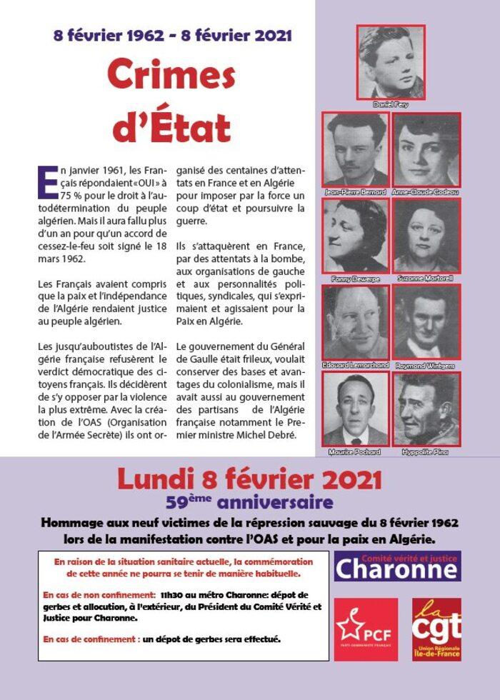 Un Jour dans l'Info :  1962, l'affaire du Métro Charonne