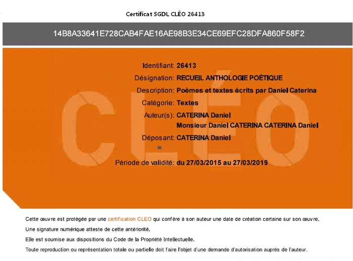 CERTIFICAT-CLÉO