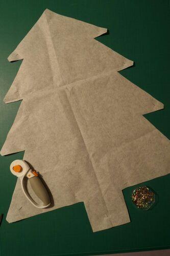 Coudre un calendrier de l'Avent (4) : fabrication du sapin