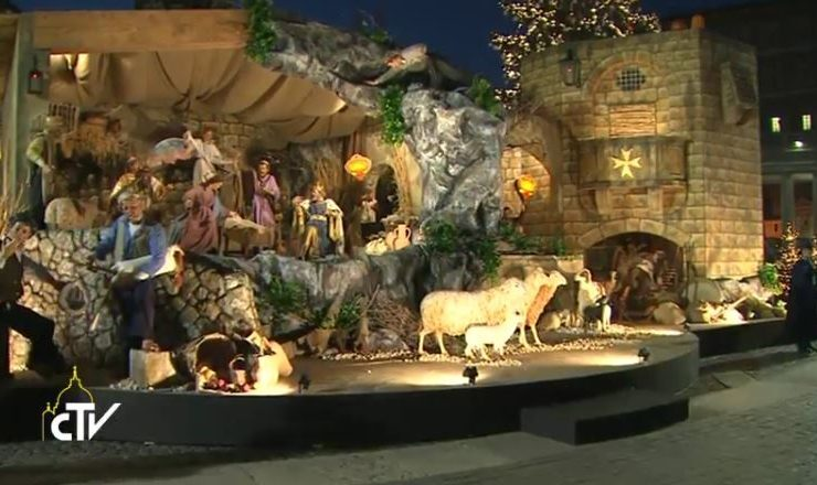 Crèche place Saint-Pierre, Noël 2016, capture CTV