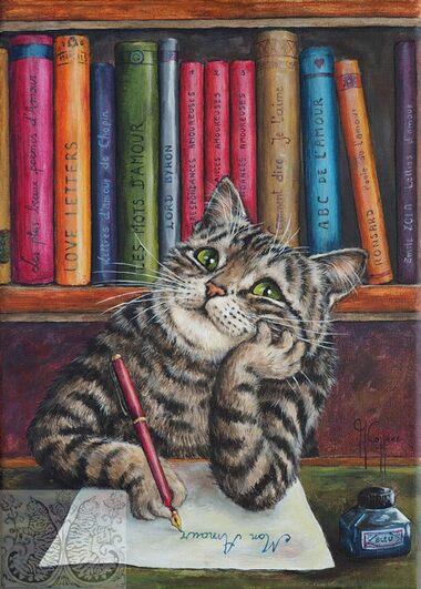 Tableau du samedi : Les mots d'amour d'un chat