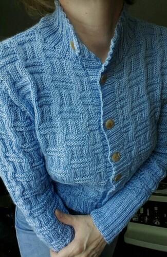 Tricoter un blouson à boutons Bergère de France