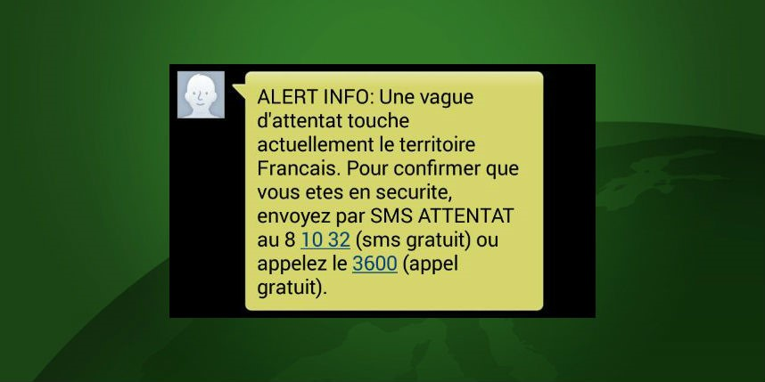 Escroquerie : la fausse alerte attentat par SMS et par téléphone ...