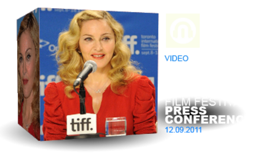 Madonna, cast & music-composer Press Conference @ Toronto Film Festival