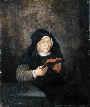 6- Les vieilles dames lisant- Peintures