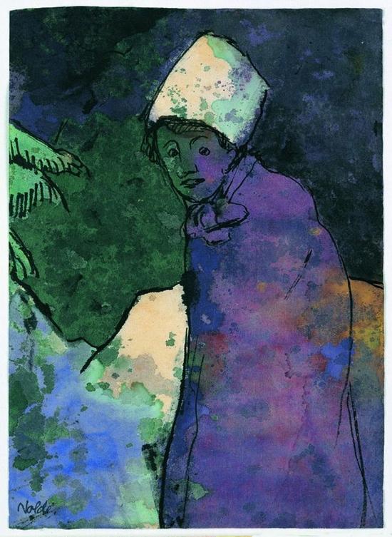 Emil Nolde, Femme en hiver