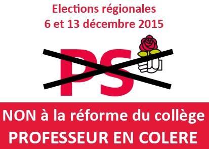 réforme des collèges - élections régionales 2015