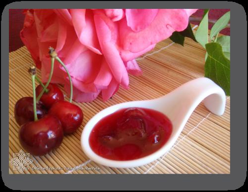 Confiture de cerises à la rose et au gingembre