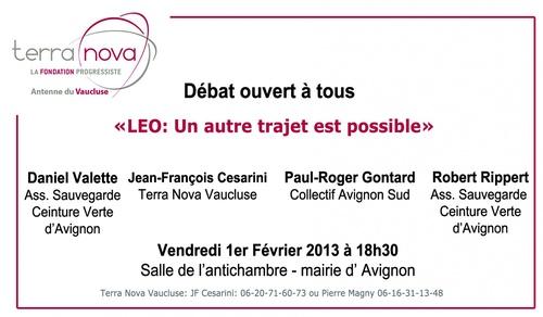LEO/ Débat ouvert à tous le 1er Février