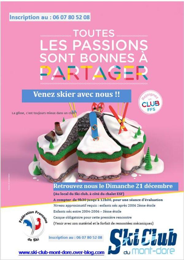 Tests Pré-Club le dimanche 21 décembre 9H30