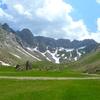 Dans la descente de la la Valle de los Sarrios (vallée des Isards)
