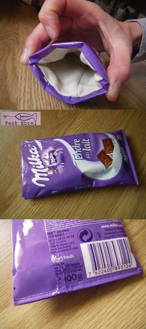 Etui à lunettes emballage de chocolat