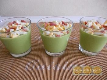 Crème de petits pois & allumettes d'oeuf