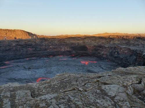 le cratère du Erta Ale de jour