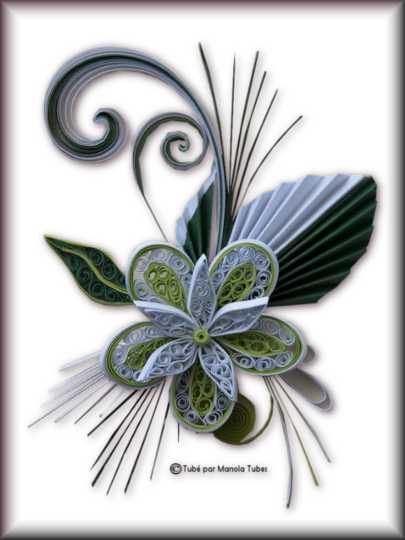 Tubes Quilling Arts floral 2982