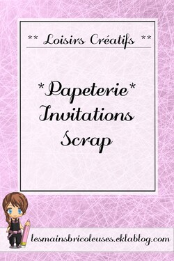 "*Papéterie* Invitations ""Scrap"""