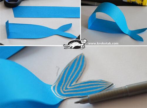 Baleine en pliage