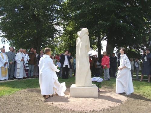 L'inauguration de la statue de Saint Bernard