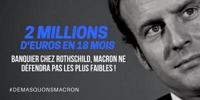 Macron est passé au crible par les internautes!
