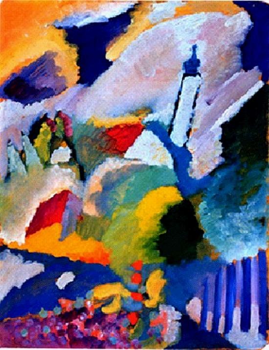 Wassily Kandinsky, Murnau et l'église, 1910