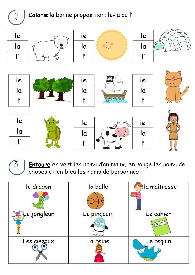 CP - FAIRE DE LA GRAMMAIRE AU CP / LES NOMS ET LES DETERMINANTS - La classe de Corinne