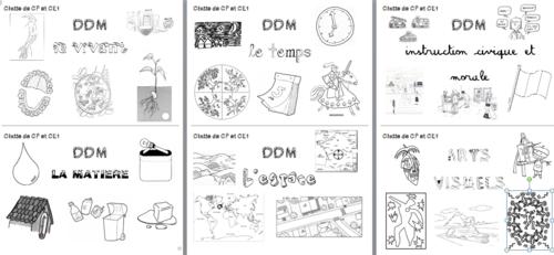 pages de garde pour le classeur de DDM cycle 2