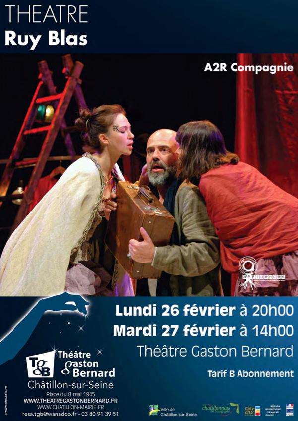 """Ruy Blas"" de Victor Hugo bientôt au Théatre Gaston Bernard de Châtillon sur Seine"