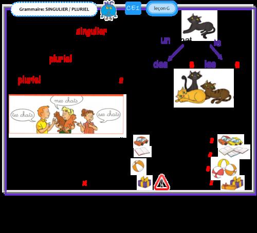 leçon d'étude de la langue CE1