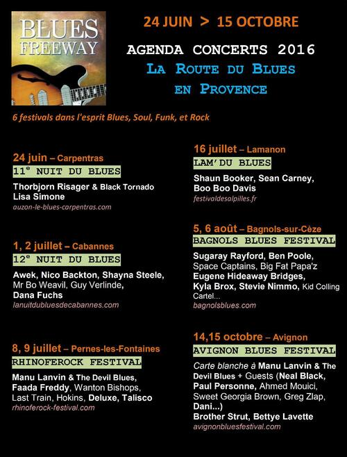 BLUES FREEWAY saison 2016 - Vivez la Route du Blues en Provence !