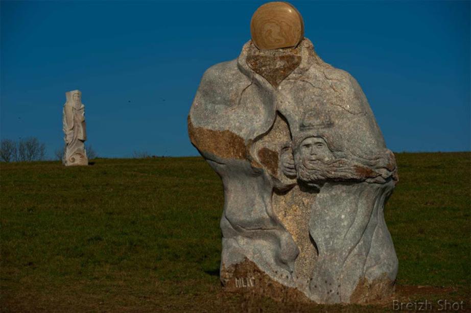Carnoët : La statue de Milio