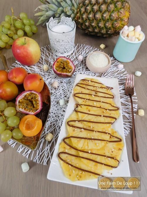"Carpaccio d'ananas "" facile et rapide """
