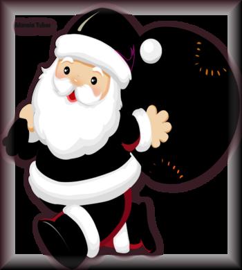 Tube père Noel vectoriel 2996