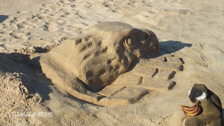 Arcachon : sculptures sur sable