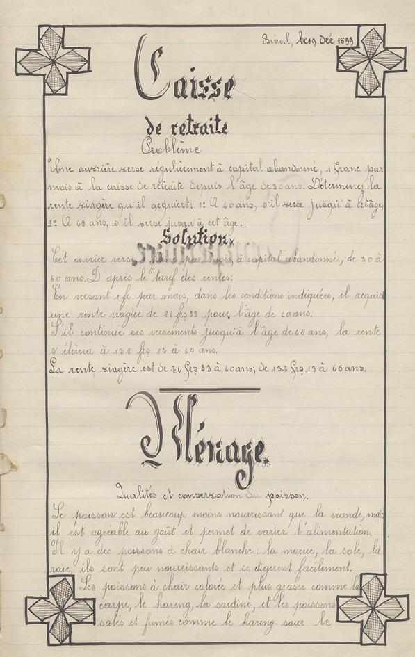 Le Cahier de Marie Bernard ( pages de 131 à 141).