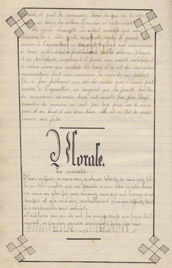 Le Cahier de Marie Bernard ( pages de 142 à 151).