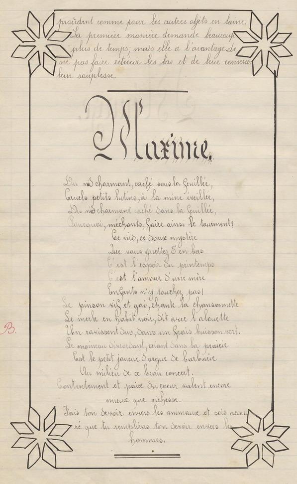 Le Cahier de Marie Bernard ( pages de 162 à 172).