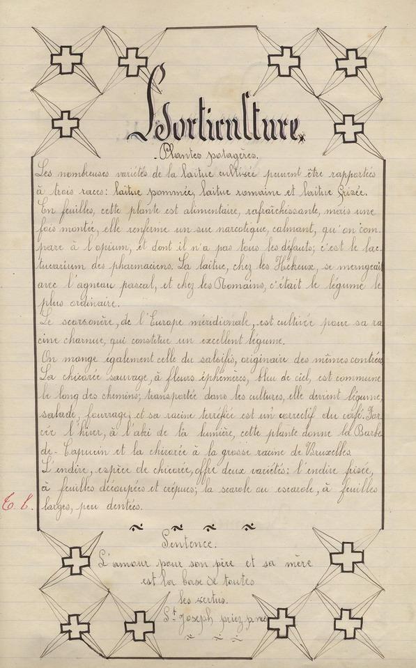 Le Cahier de Marie Bernard ( pages de 173 à 179).