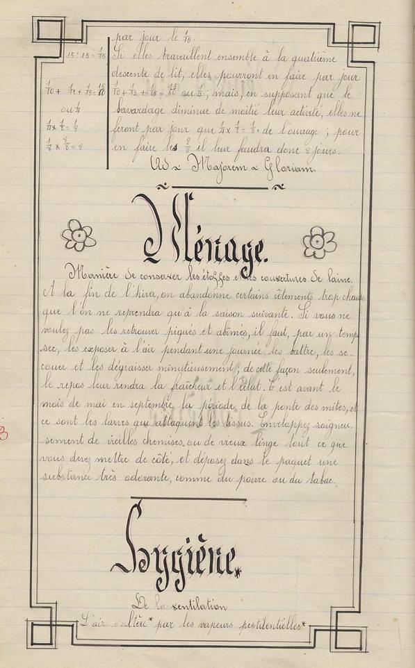 Le Cahier de Marie Bernard ( pages 33 à 40 ).