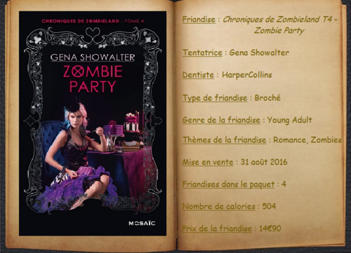 Chroniques de Zombieland T4 - Zombie Party - Gena Showalter