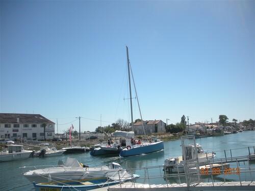 Une vue du port de Boyardville