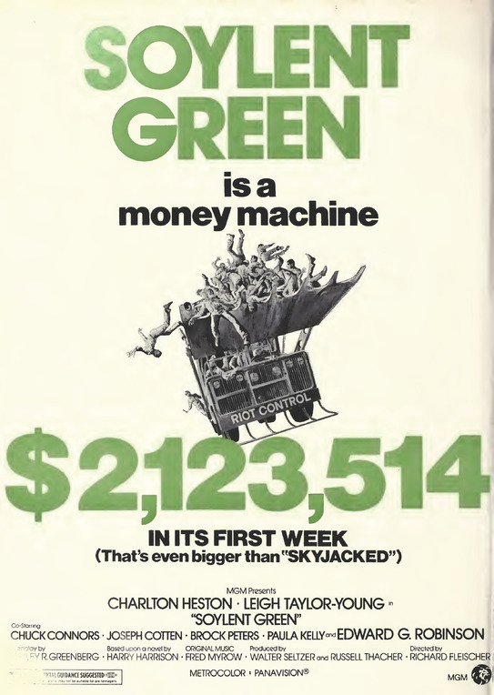 SOYLENT GREEN BOX OFFICE 1973