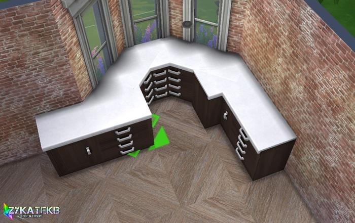 Une cuisine dans un angle octogonal