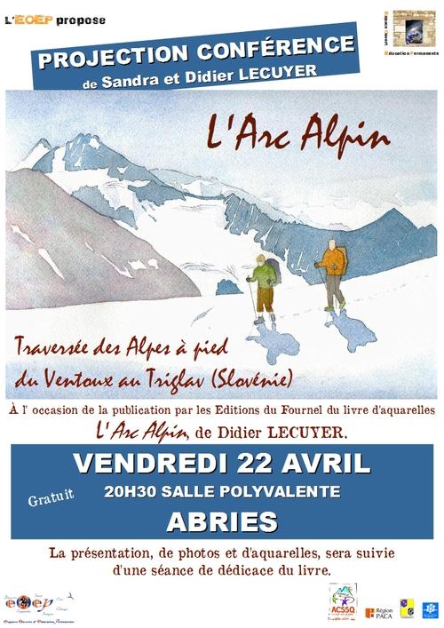 """""""L'Arc Alpin, traversée des Alpes à pied du Ventoux au Siglav (Slovénie)"""