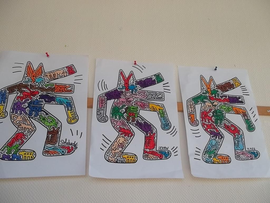 Top Les loups selon Keith Haring - La classe desTout Petits- Petits  FS13