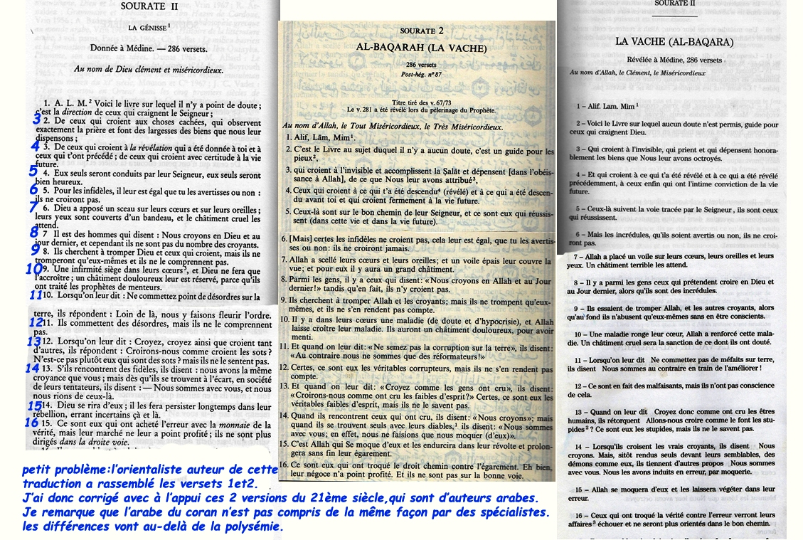 """Islam/Coran/Sourate 2 """"la Vache""""/ البقرة"""