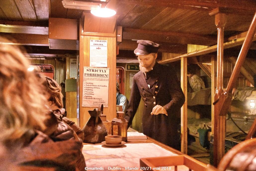 Musée de la Famine sur le bateau Jeanie Johnston - Dublin - Irlande