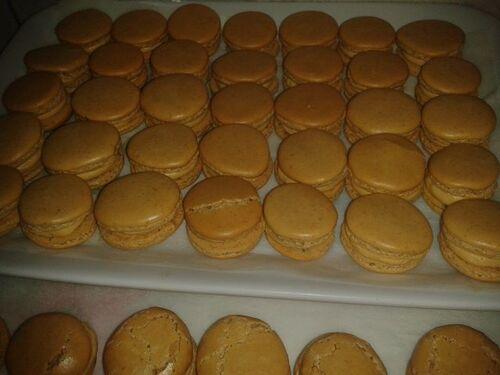 macaron creme au beurre café